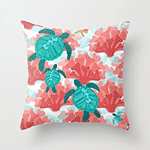 51-rQGNlKlL._SS300_ 100+ Coastal Throw Pillows & Beach Throw Pillows