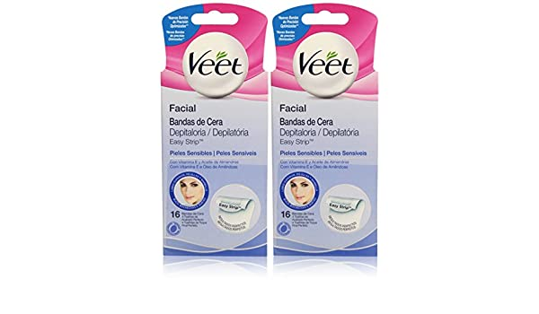 Amazon.com : Veet Facial Wax Bands Set for Sensitive or Dry Skin - by Veet : Beauty
