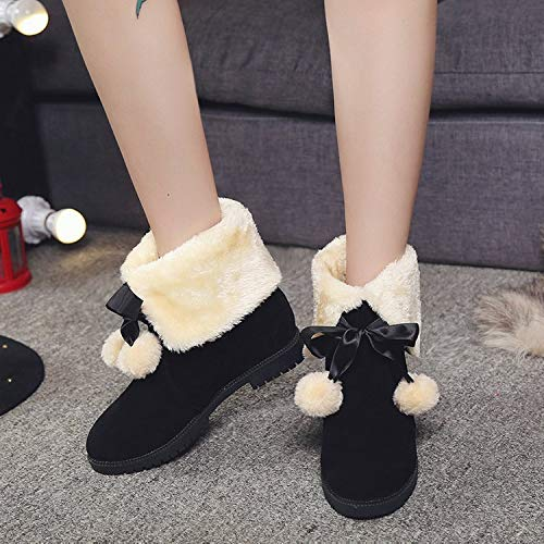 3 Women Heel Ankle Mid Hidden Calf Black Size Boots Fuxitoggo UK Bowknot 5 Color Faux Shoes Suede wfx1ZEq