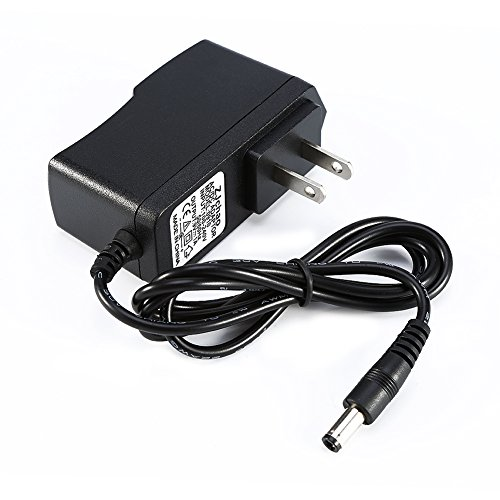 ZJchao 9V 1A Power Adapter for Arduino (2-Flat-Pin Plug / 100CM Cable) (Flat Pin Plug)