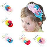 ROEWELL® Cute 5 Pcs Baby's Headbands Girl's Hair Bow Hairband (5 Pack)