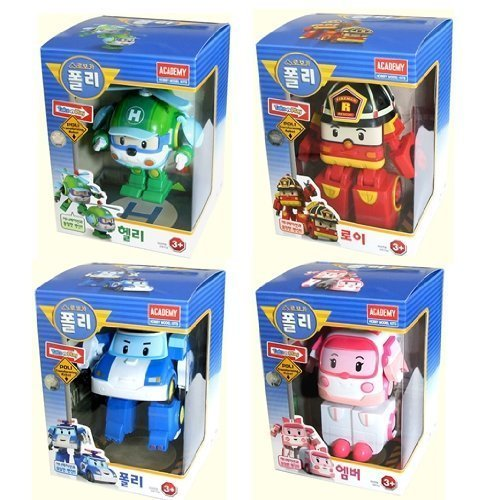 ROBOCAR POLI Poli + Helly + Amber + Roy Transforming Robot Toy