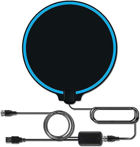 YanLin 4K Antena de TV para Interiores, Amplificador de señal ...