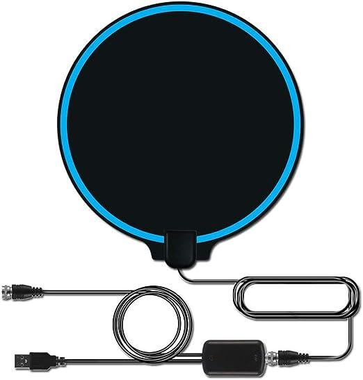 YanLin 4K Antena de TV para Interiores, Amplificador de señal de Amplificador, Antena Digital de 80km,