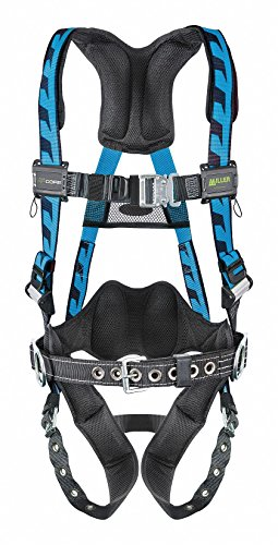 Miller Titan by Honeywell AC-TB-BDP2/3XLBL AirCore Full Body Harness, 2X-Large/3X-Large, Blue - Titan Full Body Harness