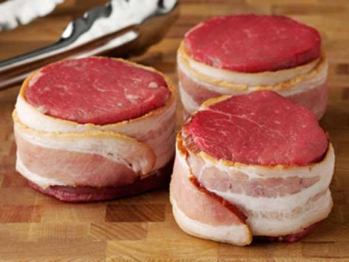 Bacon Wrapped Filet Mignon - Bacon Wrapped Tenderloin Filets - 4 oz.