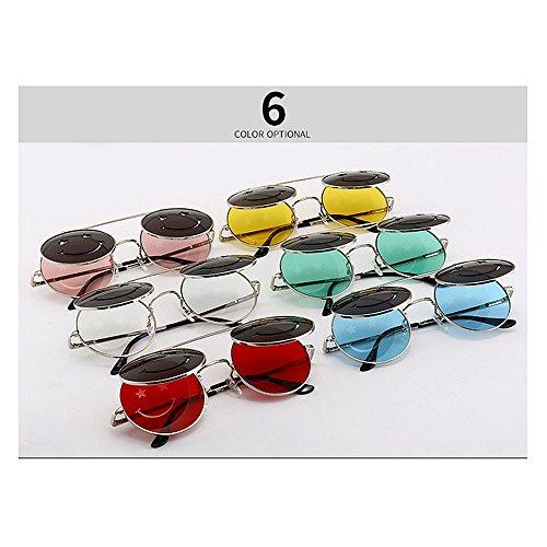 UV Steampunk de Sol abatibles para Gafas C5 Protección Vacaciones Playa Verano Mujer Conducir Peggy C6 Color para Gu Estilo 5nIvvq