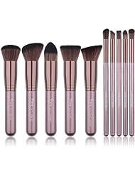 Qivange Makeup Brush Set, Synthetic Soft Kabuki Flat...