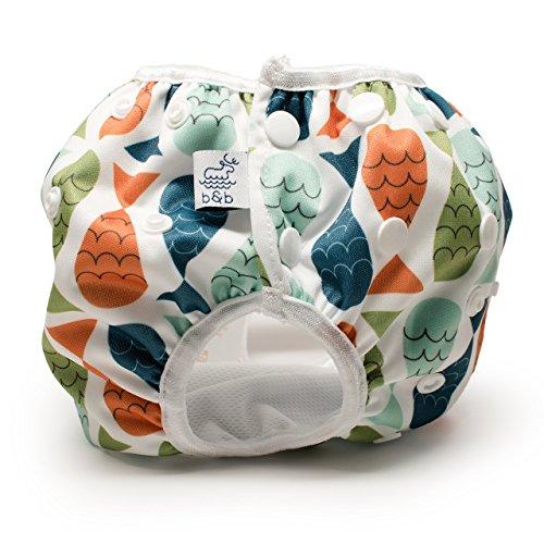 Beau & Belle Littles Nageuret Reusable Swim Diaper (Fish - Red, Blue, Green)