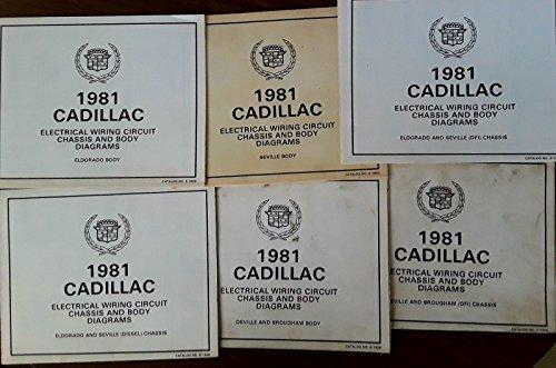 (1981 Cadillac Eldorado Deville Brougham Original Service Manuals Body Diagrams)