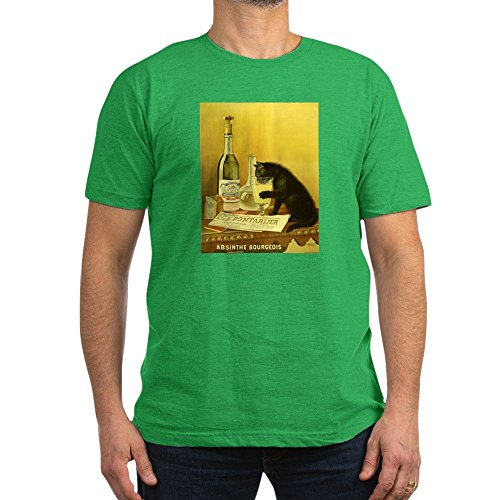 ourgeois T-Shirt - Men's Fitted T-Shirt, Stylish Printed Vintage Fit T-Shirt (Absinthe Green Fairy Shirt)
