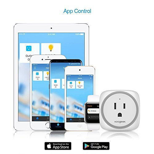 Koogeek Smart Plug, WiFi Outlet, on 2.4Ghz Network, for iOS and Android Devices Remote Control, Night Light, Works with Alexa and Apple HomeKit by Koogeek (Image #4)