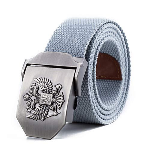 JUIHUGN Unisex Russian National Emblem Canvas Tactical Belt Military Belts for Mens & Women Luxury Patriot Jeans Belt Light Gray 110cm