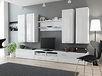 Wohnwand \'Dream III\' Hochglanz Wohnzimmer Tv Wand , Farbe ...