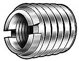 E-Z Lok Externally Threaded Insert, C12L14 Carbon Steel, Meets AISI 12L14/Metric, 10-32 Internal Threads, M16x2.0 External Threads, 7.49mm Length, Made in US (Pack of 5)