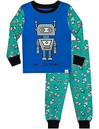 Harry Bear Boys Pajamas Retro Robots