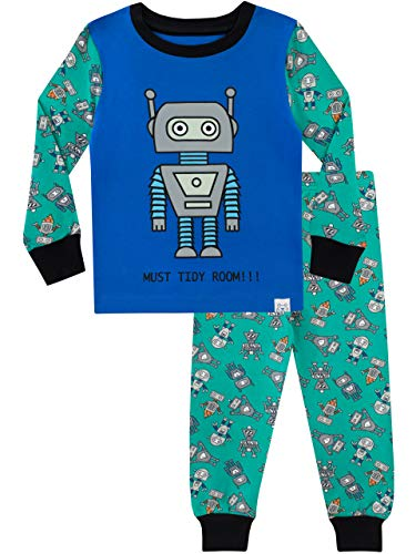 Harry Bear Boys' Pajamas Retro Robots Size 6 Multicoloured -