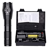 L2 Rechargeable LED Flashlight Portable Torch Waterproof 1200 Lumens Super Bright Outdoor Handheld Torch 5 Switch Mode