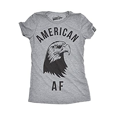 Womens American AF Funny Tshirts Fourth of July Novelty Tees for Ladies USA Humor T shirt