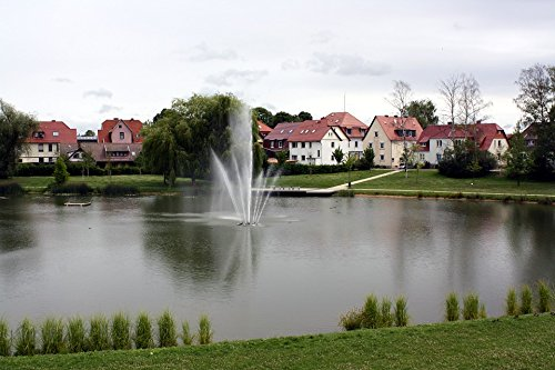 LAMINATED POSTER Fountain Germany Homes Water Park Pond Houses Poster 24x16 Adhesive Decal by Home Comforts