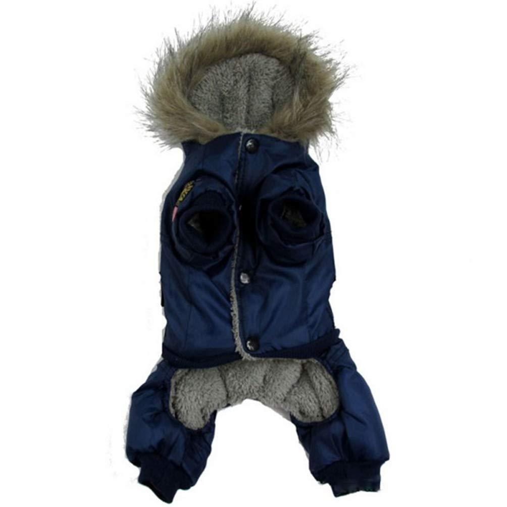bluee S bluee S Jim Hugh Dogs Coat Jacket Waterproof Kitten Thick Hoodies Coats Dog Pet Warm Winter Puppy Clothes