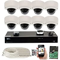 GW Security 8CH 4TB NVR 5MP H.265 Built-In Microphone Audio Recording 8 x HD 1920P IP PoE Security Camera System