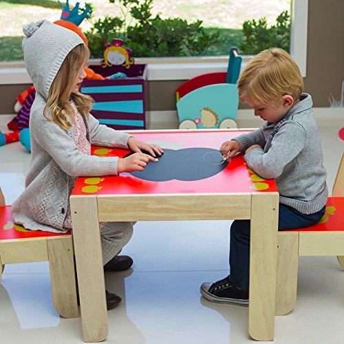 Labebe - Kinder Apfel Sitzgruppe - mit 1 Kindertisch & 2 Stuhl