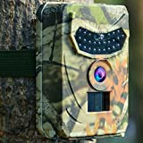 Kuool Trail Camera 12MP 1080P Full HD Hunting Camera with Infrared Night Vision Waterproof Wildgame Innovations Trail Camera 26 Pcs IR LEDs 120° Wide Angle Game Cam for Wildlife Monitoring