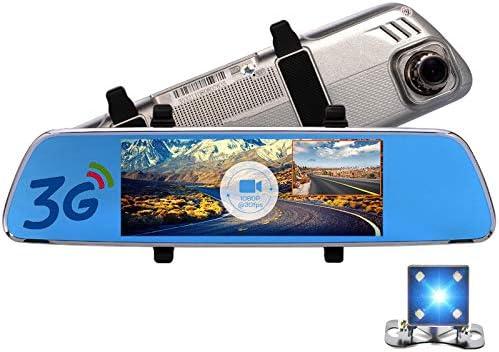 7 pulgadas 3G Android espejo retrovisor del coche DVR GPS ...