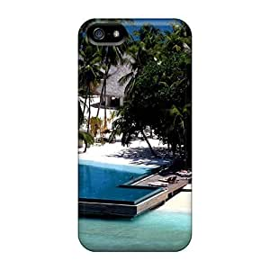 Flexible Tpu Back Case Cover For Iphone 5/5s - Fabulous Resort In The Maldives by icecream design