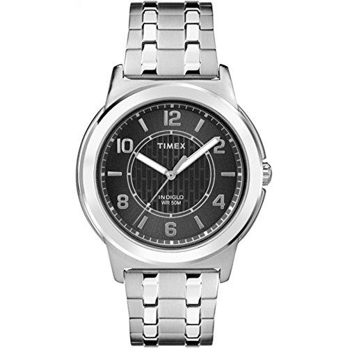 Collection Main Street - Timex Men's Bank Street | Silver-Tone & Case | Dress Watch TW2P61800