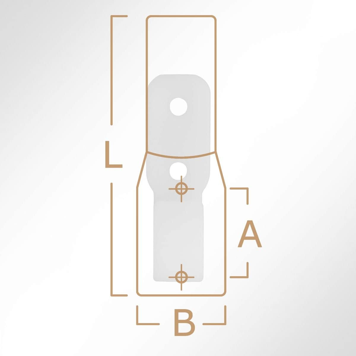 BxL 10 St/ück LYSEL Kunststoff Planenhaken geschlossen, 20x63mm in Schwarz