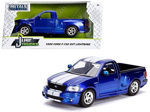 - Jada 1:24 W/B - Metals - Just Trucks - 1999 Ford F-150 SVT Lightning (Candy Blue)