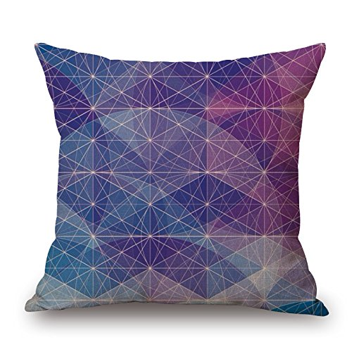 Alphadecor Geometric Throw Cushion Covers 16 X 16 Inches / 40 By 40 Cm For Office,kids Girls,bar,saloon,study Room,girls With Two ()
