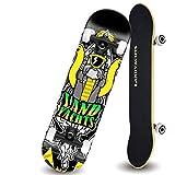 SMMBM Double-up Skateboard Adult Beginner Entry-Level Professional Board Action Short Board Scooter Skateboard (Color : B)