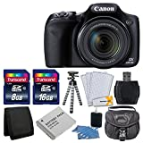 : Canon PowerShot SX530 HS Digital Camera with 50x Optical Image Stabilized Zoom with 3-Inch LCD HD 1080p Video (Black)+ Extra Battery + 24GB Class 10 Card Complete Deluxe Accessory Bundle And Much More