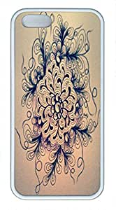 Blossom Customized Design TPU White Great Tough Hard Armor Case Cover Skin for Iphone 5S - Beautiful Retail Packing for Iphone 5S - Pattern