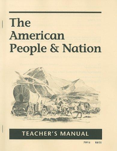 American People & Nation Teachers Manual