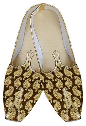 INMONARCH Herren Goldbrokat Hochzeit Schuhe MJ0019