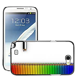 Super Stellar Slim PC Hard Case Cover Skin Armor Shell Protection // M00048983 white aero crayons colorful rainbow // Samsung Galaxy Note 2 N7100