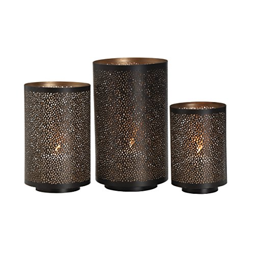 Metal Mesh Lantern - Studio Nova Round Metal Mesh Luminaries (Set of 3)