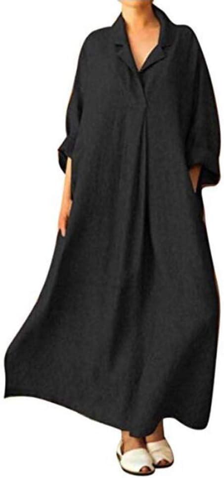 Vestido Boho Para Mujer Verano Otoño Cuello En V Manga Larga ...