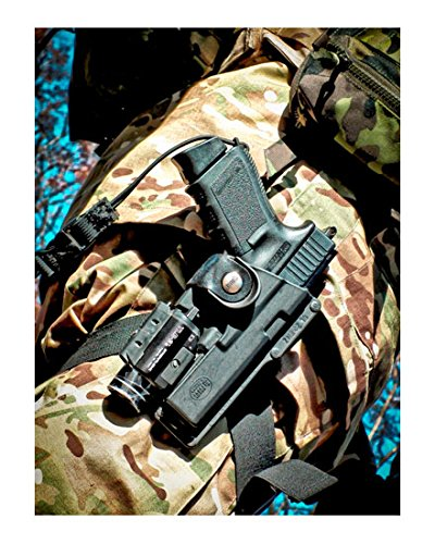 Fobus Tatical concealed carry 5cm Police Wide Belt ROTO Rotating Left Hand Tactical Holster for Glock 17, 22 / Smith… 3