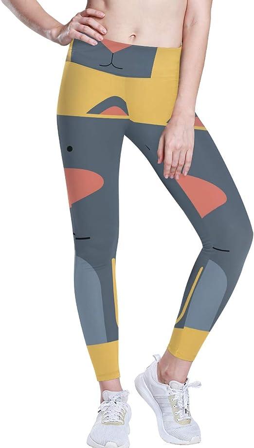 DEZIRO Pantalones de yoga de cintura alta con diseño de gato y perro con control de barriga, 4 formas de estiramiento, entrenamiento, correr, yoga, leggings: Amazon.es: Ropa y accesorios