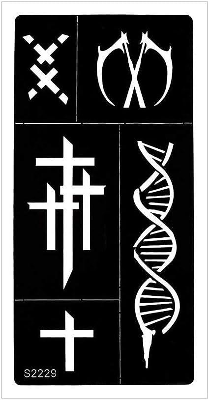 Just Fox – Plantilla de aerógrafo para tatuaje de henna, cruz DNA ...