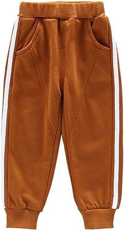 Pantalones de chándal de algodón para niños Pantalones de chándal de Cintura Ajustable Pantalones (Color : Marrón, tamaño : 100): Amazon.es: Hogar