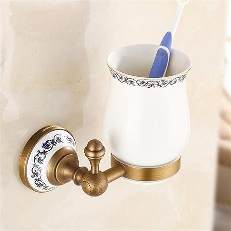 Accesorios de baño Cobre antiguo europeo portavasos boca ...
