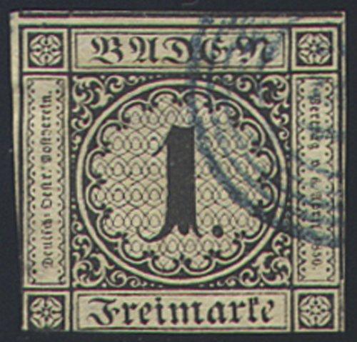 Goldhahn Baden Nr. 1a 1a 1a gestempelt geprüft Briefmarken für Sammler 3ddb7e