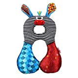 Travel Neck Pillows for Baby Travelling in Forward Facing Safety Seats ~ Puppy, Donkey Or Frog (Donkey)