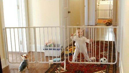 Expandable Pet Gate Baby Safety Gate – Black, 85 Inches Extended Review